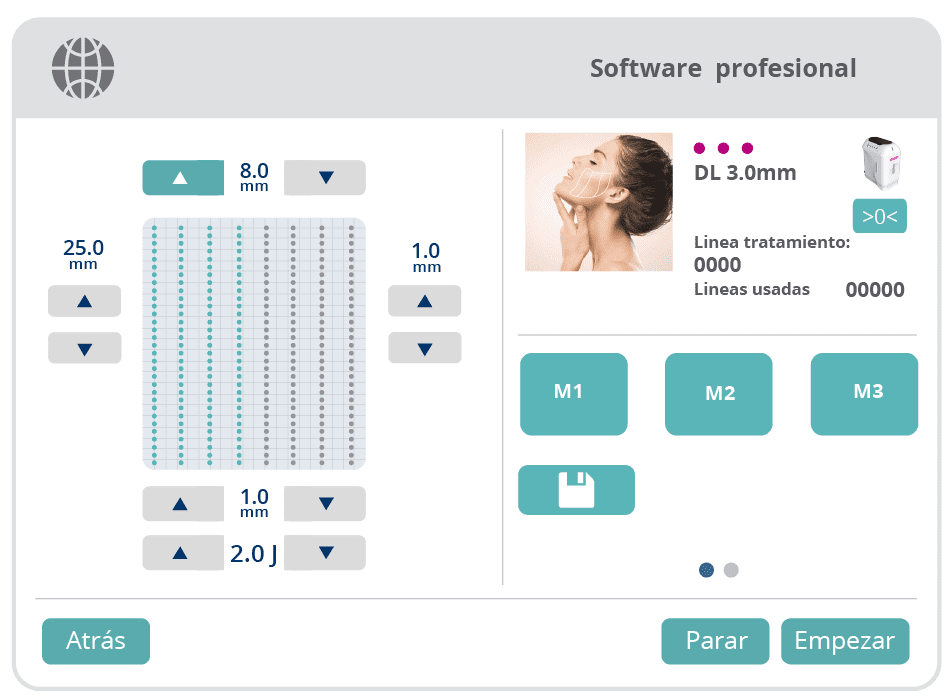 Software profesional HIFU Med-Apolo